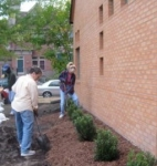 Landscaping project at Red Cedar Friends Meetinghouse