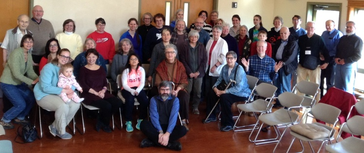 Red Cedar Friends gathered after worship