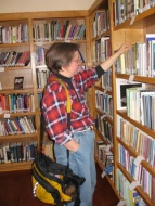 A Friend browses the RCF library