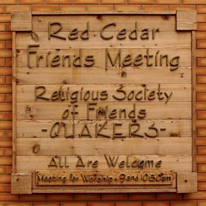 Red Cedar Friends sign