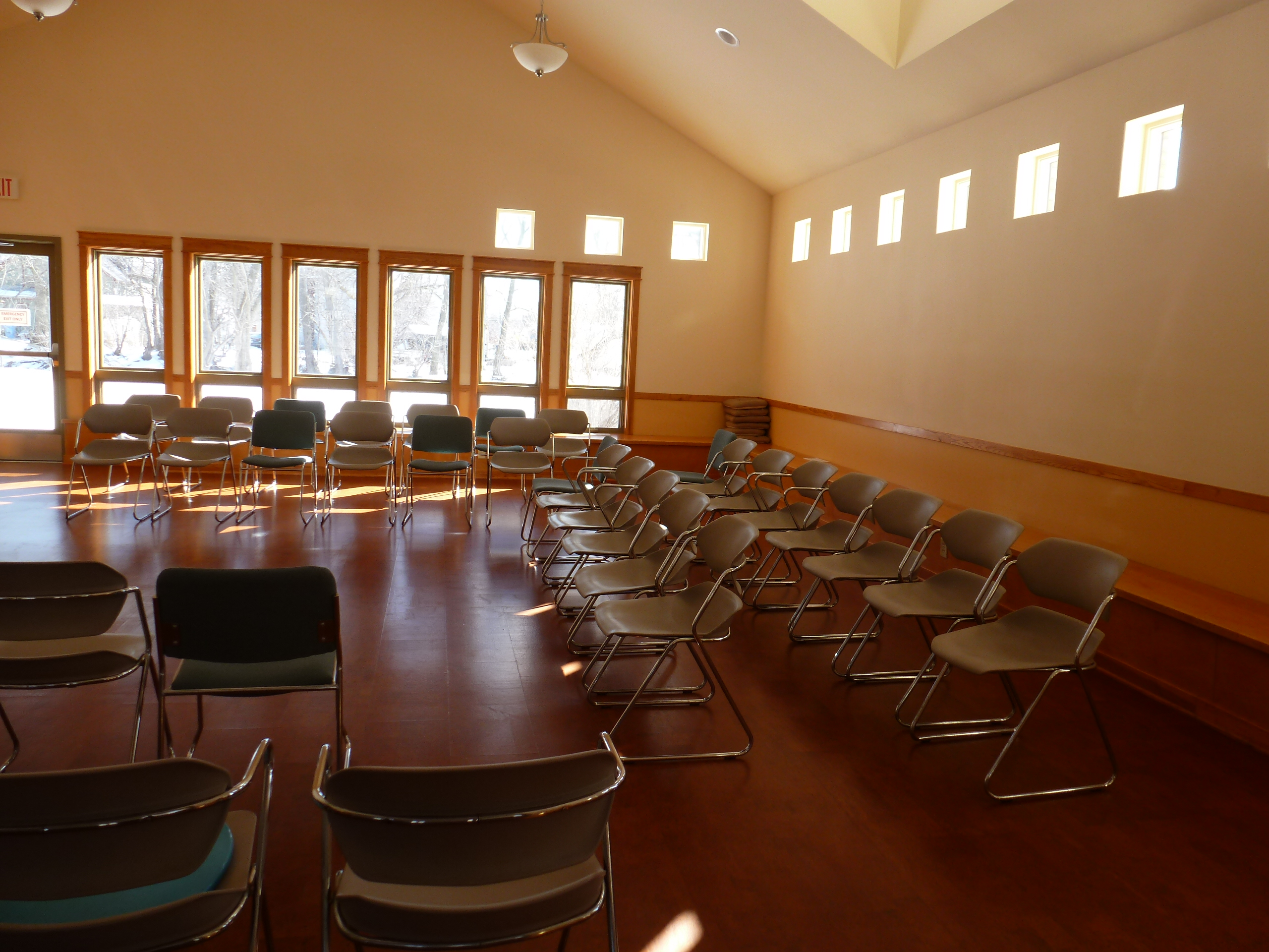 Red Cedar Friends worship room
