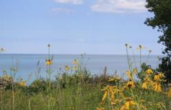 a photo of Lake Michigan near the Siena Center