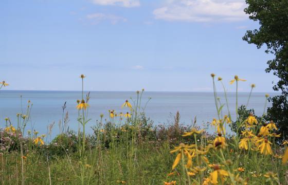 a photo of Lake Michigan near the Siena Center