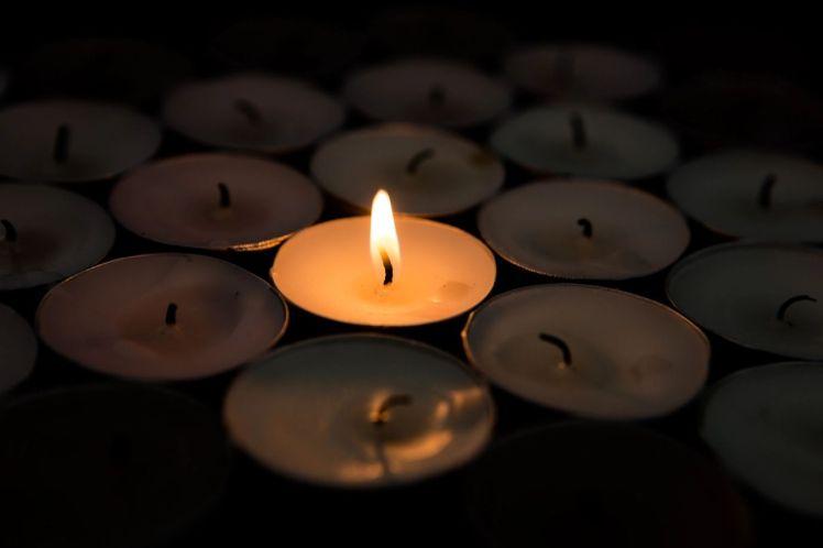 image of burning candle