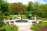 photo of circle garden at the Weber Center